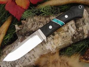 Нож с фиксированным клинком Drop Point Hunter BCM Jade Malachite Space