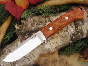 Нож с фиксированным клинком Drop Point Hunter Amboynia Burl