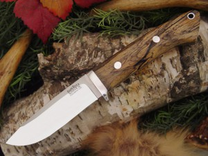 Нож с фиксированным клинком Drop Point Hunter Black&White Ebony