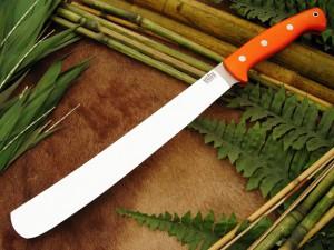 Нож с фиксированным клинком Golok Blaze Orange G-10