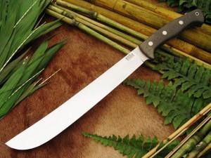 Нож с фиксированным клинком Golok Upswept Green Linen Micarta