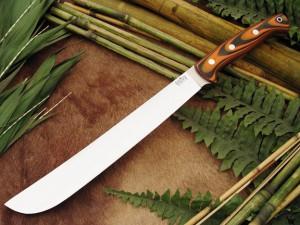 Нож с фиксированным клинком Golok Upswept Tigerstripe G-10