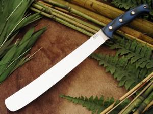 Нож с фиксированным клинком Golok Blue&Black G-10