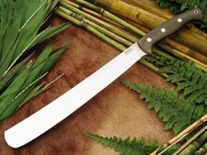 Нож с фиксированным клинком Golok Green Linen Micarta