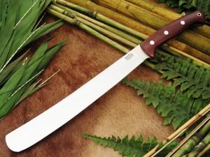 Нож с фиксированным клинком Golok Maroon Linen Micarta