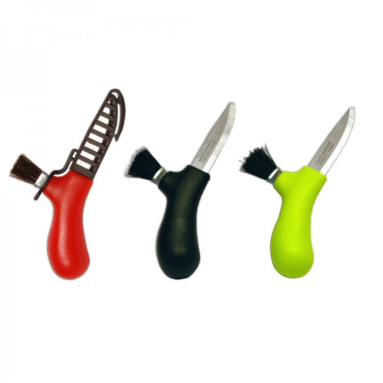 Нож для грибов, нерж. сталь (красный, черный, лайм)