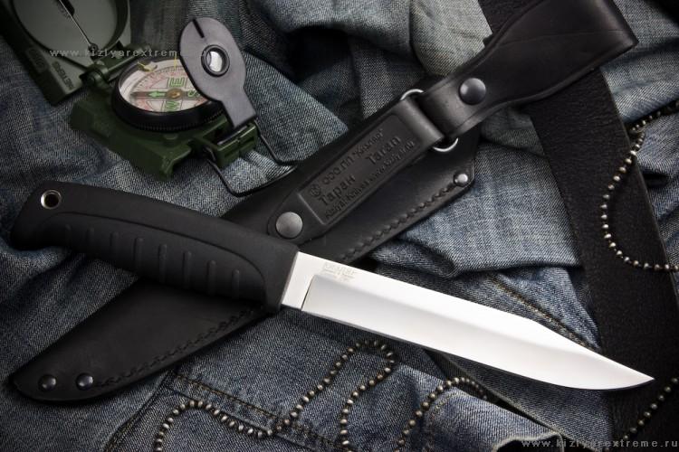 Нож с фиксированным клинком Таран Полированный Эластрон z90