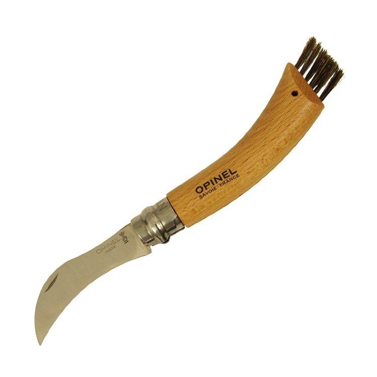 Нож грибника Opinel 8VRI, нержавеющая сталь, рукоять бук, коробка 001252