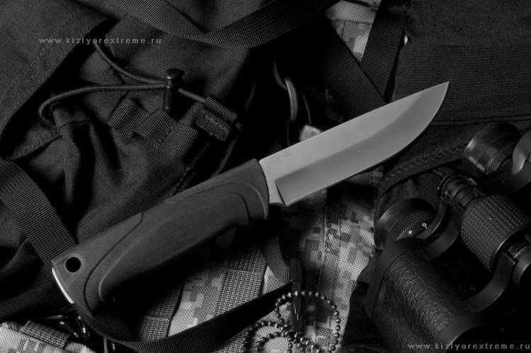 Нож с фиксированным клинком Стерх-1 Полированный Х12МФ