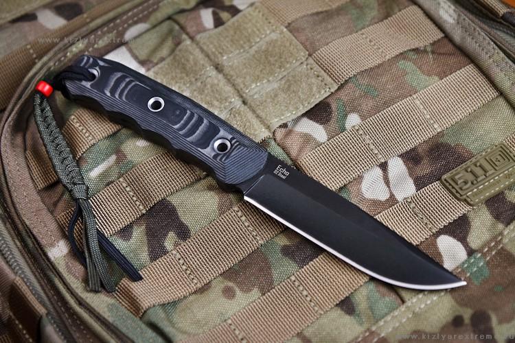 Нож с фиксированным клинком Echo D2 Black
