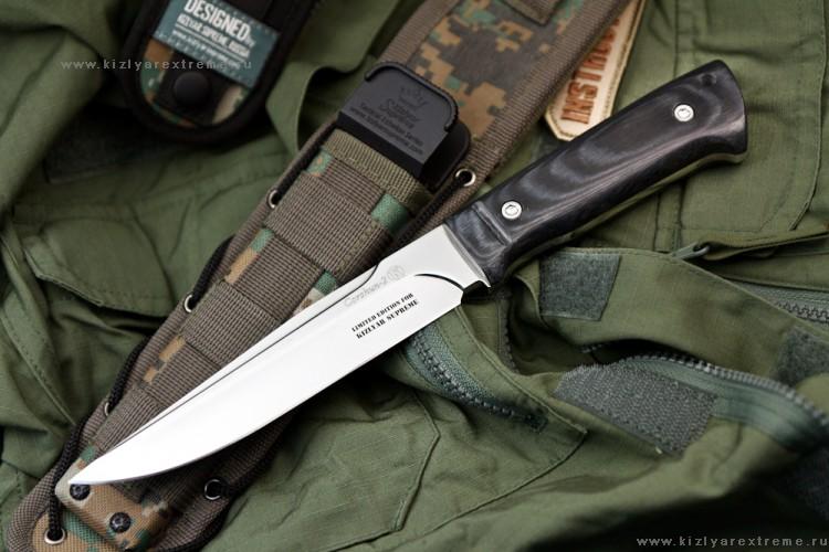 Нож с фиксированным клинком Коршун-2 Микарта MOLLE Kizlyar Supreme Edition
