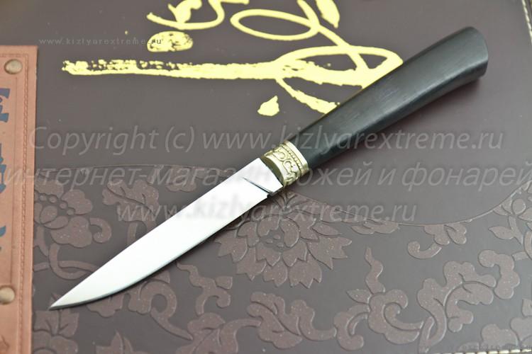 Нож с фиксированным клинком Абхазский Малый Латунь