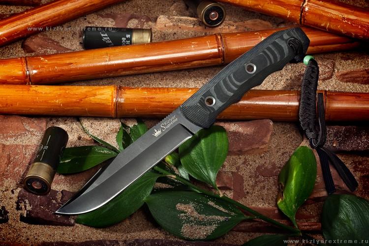 Нож с фиксированным клинком Enzo AUS-8 Black