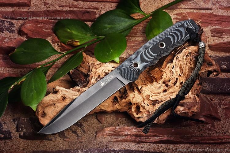 Нож с фиксированным клинком Enzo D2 Black