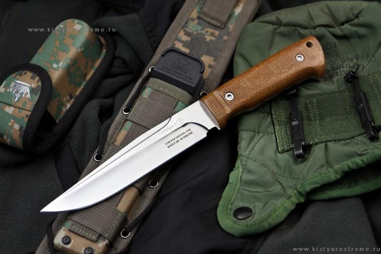 Купить нож с фиксированным клинком Коршун-2 Текстолит MOLLE Kizlyar Supreme Edition