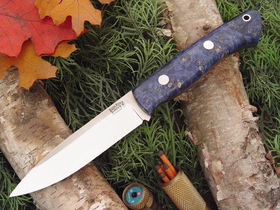 Нож Bark River Aurora модель Blue&Gold Elder Burl