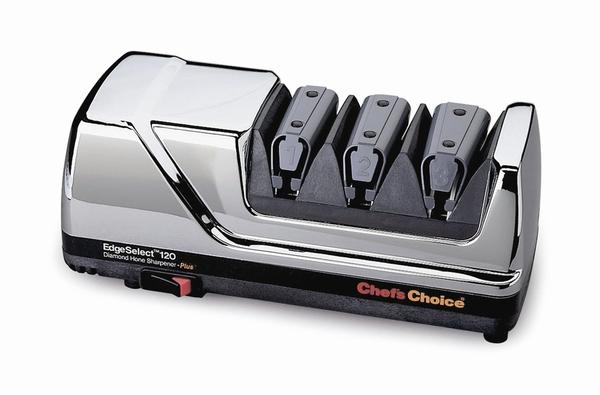 Точилка электрическая для заточки ножей Chef's Сhoice 120H (Хром)