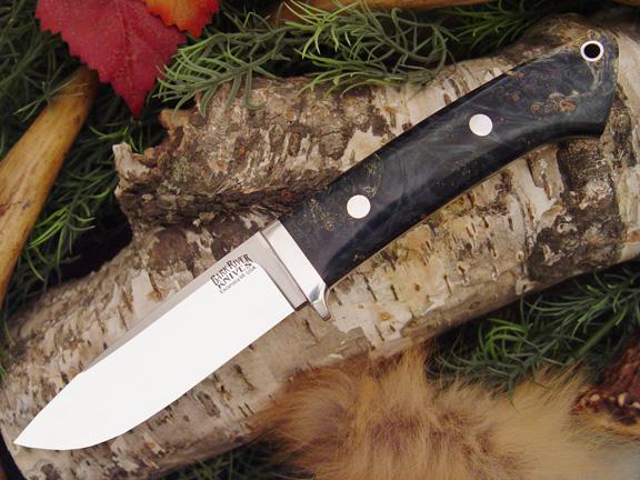 Нож с фиксированным клинком Drop Point Hunter Blue Green Gold Elder Bu