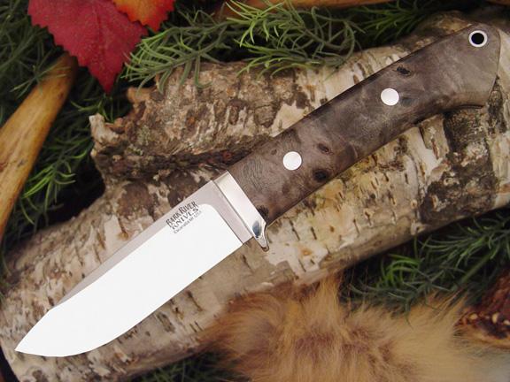 Нож с фиксированным клинком Drop Point Hunter California Buckeye Burl