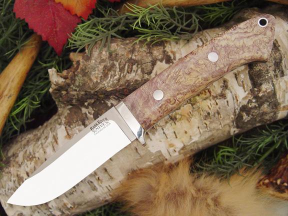 Нож с фиксированным клинком Drop Point Hunter Gold Grey Elder Burl