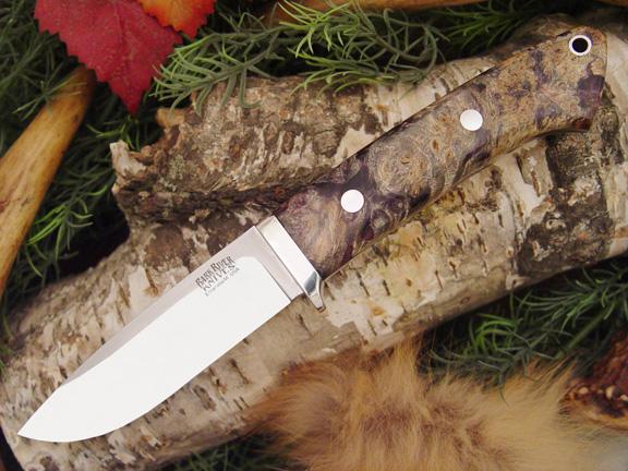 Нож с фиксированным клинком Drop Point Hunter Purple Gold Black Elder