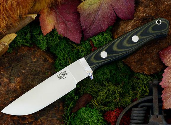 Нож с фиксированным клинком Gameskeeper Black & Green Linen Micarta