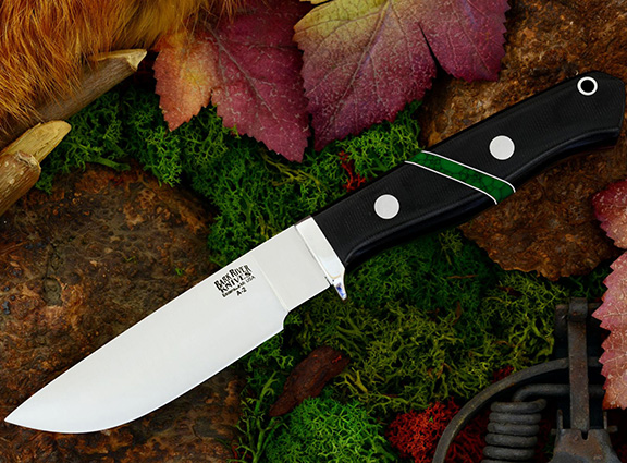 Нож Gameskeeper Black Linen Micarta Jade Malac