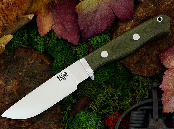 Нож с фиксированным клинком Gameskeeper Green Linen Micarta