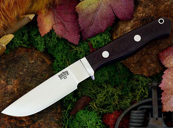 Нож с фиксированным клинком Gameskeeper Maroon Linen Micarta