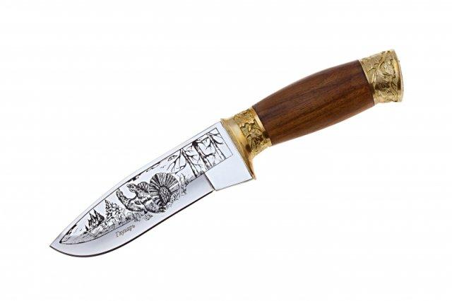 Нож Кизляр Глухарь с латунью