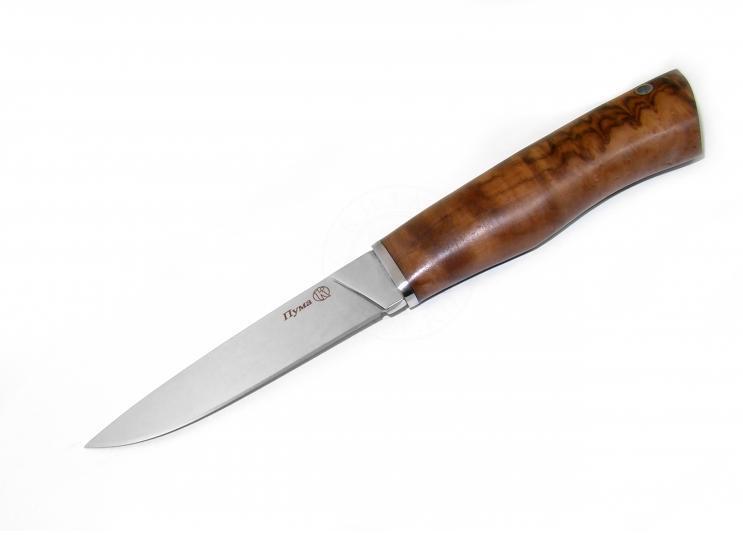 Нож с фиксированным клинком Пума Полированный Орех