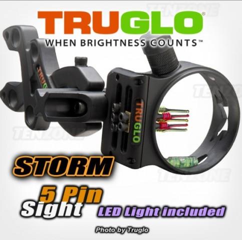 Прицел для блочного лука Truglo Storm Черный 5 pin