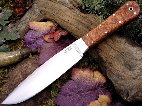 Нож с фиксированным клинком Rogue Amboynia Burl