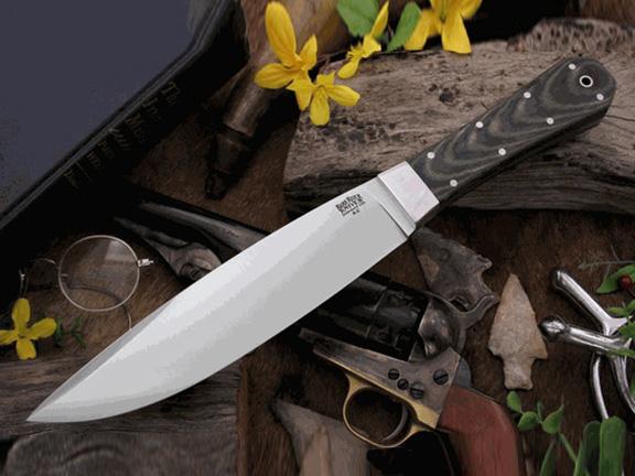 Нож с фиксированным клинком Rogue BlackGreen Linen Micarta Matte