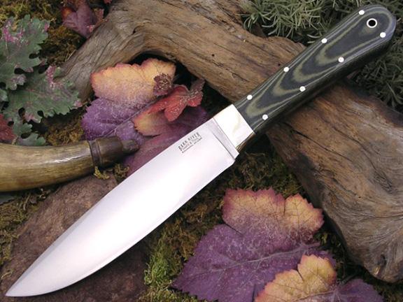 Нож с фиксированным клинком Rogue Black&Green Linen Micarta