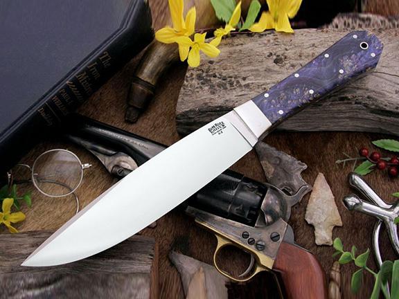 Нож с фиксированным клинком Blue Gold Maple Burl