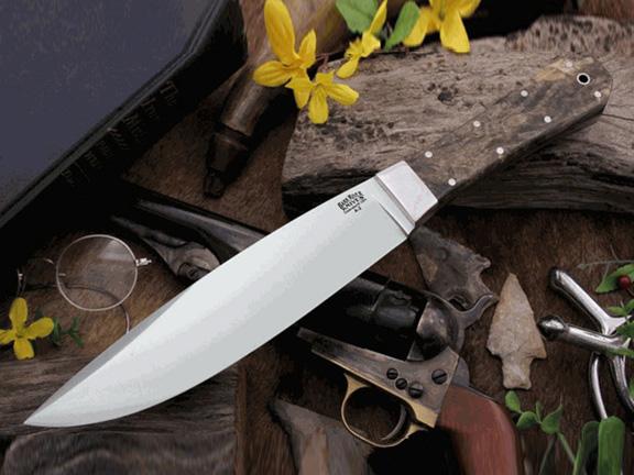 Нож с фиксированным клинком Rogue California Buckeye Burl