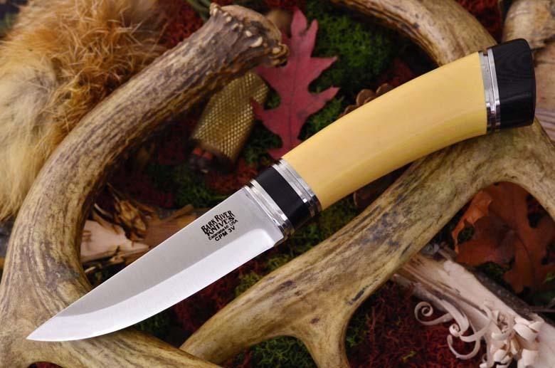 Нож Bark River Scandi модель Antique Ivory Black Paper Spacer