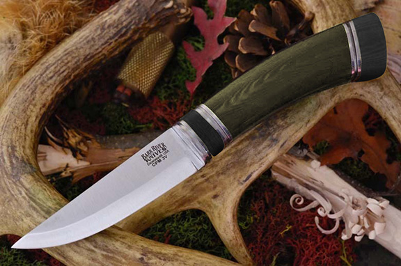 Нож Bark River Scandi модель Green Linen Micarta Black Paper Sp