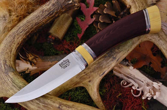 Нож Bark River Scandi модель Maroon Linen Micarta Ivory Spacer
