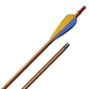 Стрела лучная деревянная с натуральным пером