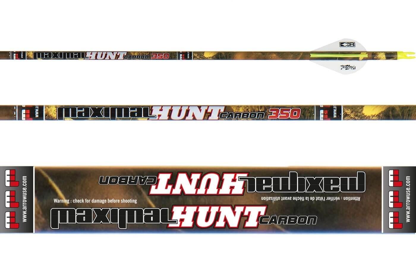 Стрела лучная карбоновая Maximal Carbon Hunt 6.2 400