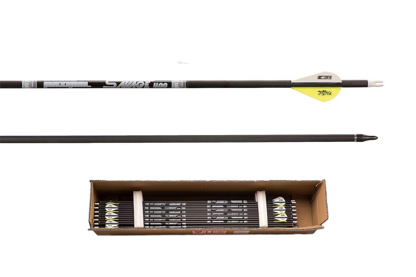 Стрела лучная карбоновая Maximal Carbon Savage 6.2 400
