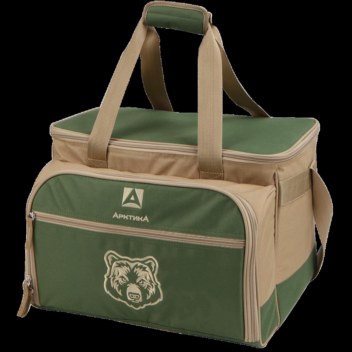 Сумка-холодильник Арктика 4100-6 с набором посуды (Зелёный)