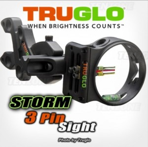TruGlo Sight Storm 3-Pin .029 Black