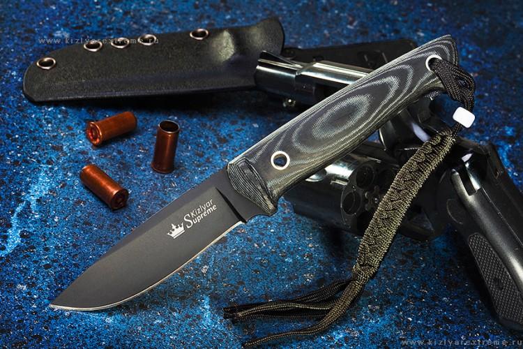 Нож с фиксированным клинком Santi D2 BT с Kydex