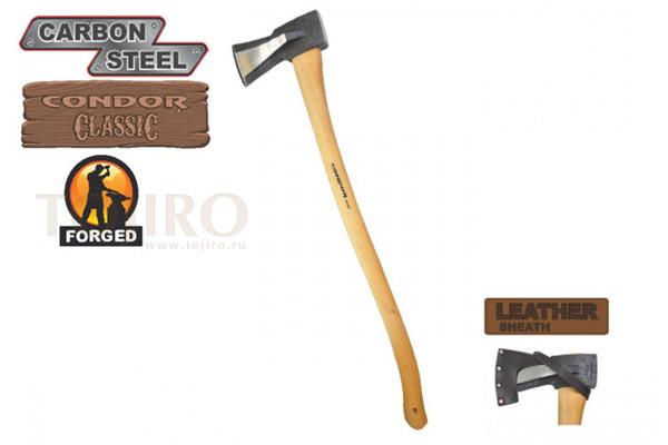 Топор CONDOR TOOL CTK4030C45 GS SPLITING AXE GERMAN STYLE 4.5 Lbs Рукоять из гикори ножны кожа