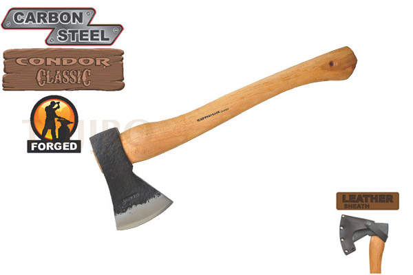 Топор CONDOR TOOL CTK4070C15 GREENLAND PATTERN AXE 1.5 Lbs Рукоять из гикори Ножны Кожа