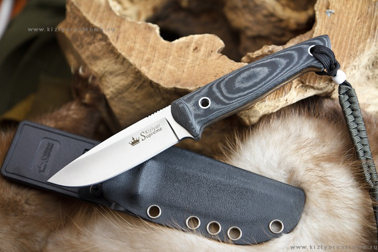 Нож с фиксированным клинком Santi AUS-8 Satin Kydex