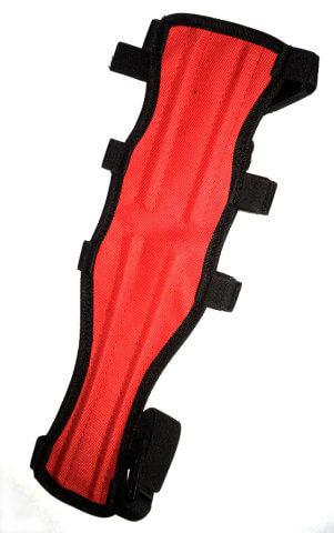 Крага для лука из синтетической ткани (Красная)